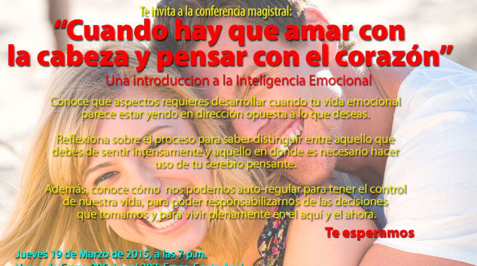 Cartel Conferencia Inteligencia Emocional