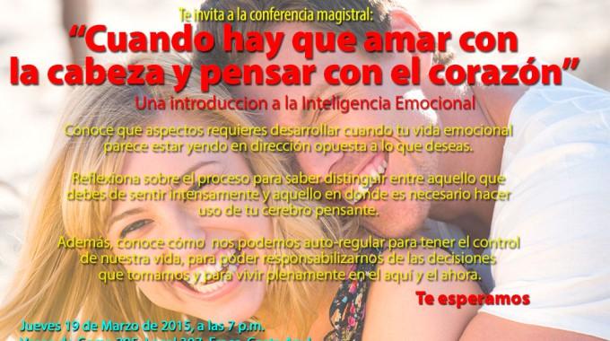 Cartel Conferencia Inteligencia Emocional